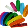 Hot sell popular debossed rubber sports wristband silicone bracelets