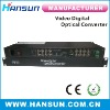 16 channel video multiplexer digital video converter FC to BNC connecter over single fiber