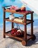 W-FC-8040 high quality wood food cart