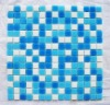 blue glass mosaic for swimming pool tileSWP19