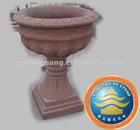 Red sandstone carving-flowerpot
