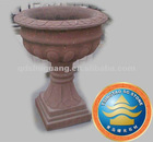 Red sandstone carving-flowerpot