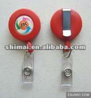 2012 custom design round pull reel badge holder