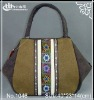ladies fashion Canvas bag cross nation fabrics