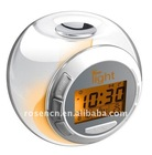 nature sound clock with 7 color light changing LCD clock
