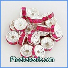 Wholesale 8mm Rondelle Spacer Beads Acrylic Crystal Rhinestone Pave Metal Charm Findings For Basketball Wives Earrings RRS-B006A