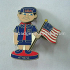 bobble head lapel pin