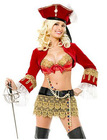 Red/Golden Sweet women's pirate Costumes dress