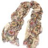 100% excellent Chiffon velvet wholesale fashion lady/women scarf with good quality 180x70cm SC02