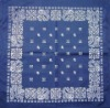 100% Cotton Bandana with 56 x 56cm Size, Customized Printings are Welcome