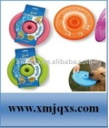 Silicone Pet Training Toys of Round Frisbee