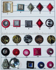 imitate crystal resin button