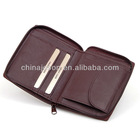 promotional mens zipper wallet bifold coin wallet