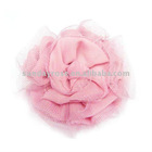 Pink Rose flower heads for hair clips