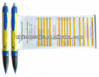 plastic retractable banner ballpoint pen