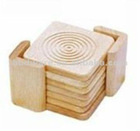 Bamboo cup coaster set