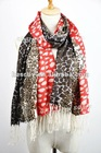 fashion 100% wool leopard print scarf