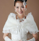 2012 cheap elegant white wedding wraps lace white bridal wrap