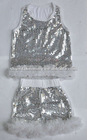 baby sequin suit/boy girl sequins top+short/ chiffon sequin short/shiny sequin shorts/girl dance wear
