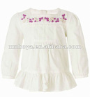 Hand made embroidery flower baby girl dress