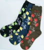 Fashion Cotton Jacquard Sock