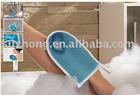 mesh glove,bath glove,bath accessories, nylon glove,polyster yarn,bamboo fibre