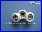 604ZZ bearing injected with POM outer diameter 15mm U groove roller[HN-415U]