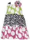 Flower Girl Frock & Multi Colored Tiered Design Knit Frock