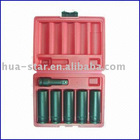 "6pcs 1"" deep impact socket set/air impact socket set"