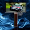 outdoor double side scrolling light box with pole