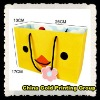 Yellow paper gift bags with lovely design