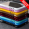 Aluminum Bumper Frame Metal Cover w/ Diamond Power Button for iphone 5 5G High Quality