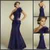 N100 Free shipping one shoulder taffeta dresses evening 2013