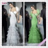 1149-1hs Attractive Mermaid Feather taffeta high low hem prom dresses Taffeta and Chiffon New Style with a beaded bodice
