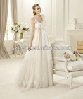 PW0008 2013 Designer new product sexy spaghetti strap appliqued tulle skirt wedding dresses for pregnant women