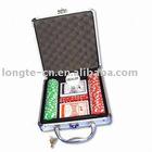 100pcs poker chips set in aluminium case