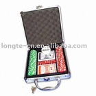 100pcs poker chips set in aluminium case
