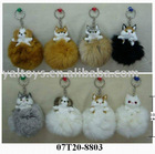 Lifelike Cat & Dog handCraft of rabbit fur -keychain ! BEST PRICE!