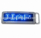 2012 Programmed LED blue color belt buckle