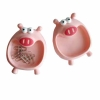Plastic PVC piggy shaped clip holder for office staff
