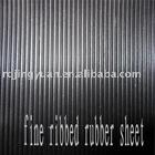 Fine ribbed rubber sheet / corrugated rubber mat / anti-slip rubber mat