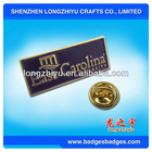 Rectangular Metal Pin Badge