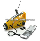 Hot sale dynamo torch radio with mobile phone charger