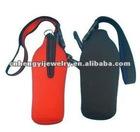 neoprene bottle cooler bag with strap
