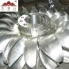 Pelton water turbine wheel