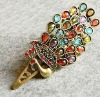 Peacock gemstone beauty hair clip fine jewel