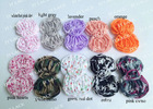 "2.5"" printed chiffon bow trim by yard 24 CoLoRs IN STOCK(ST1013)"