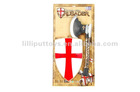 Plastic Battle Axe And Shield Medieval Toy Weapons For Children
