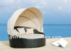 GH-BED-01,GOGOHOME Rattan/ Wicker Bed, Leisure Day Bed, Sunbed