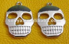 shining skull necklace pendant